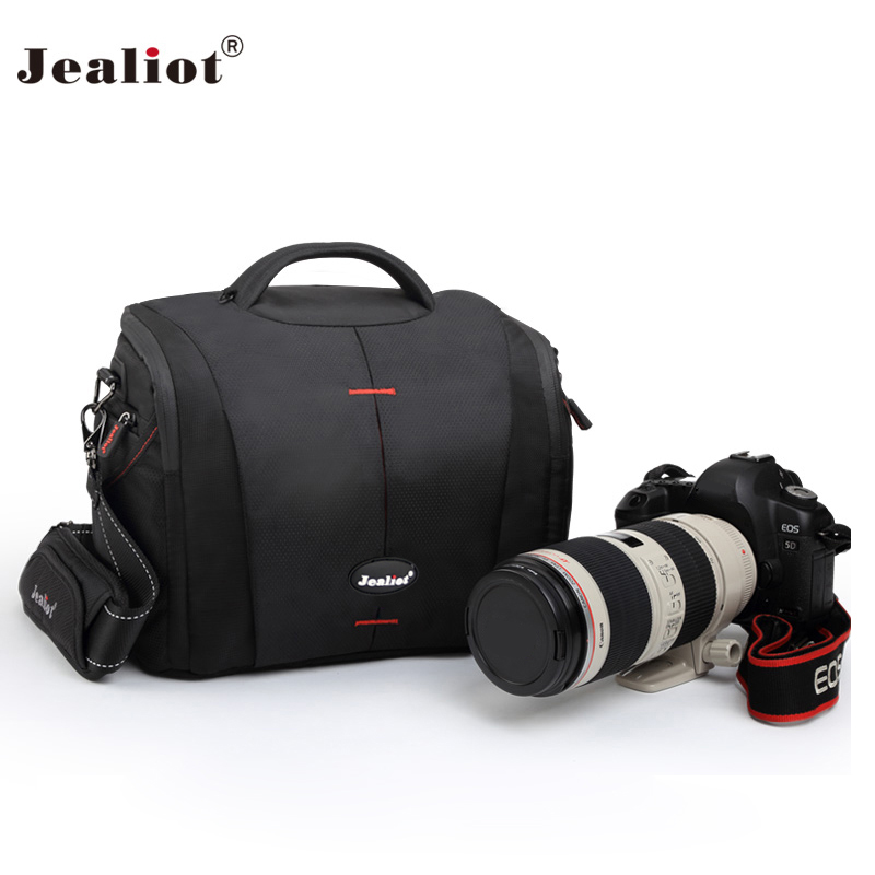 2017 Jealiot waterproof Camera bag shoulder bag lens case digital camera Video Photo fit for Canon Nikon DSLR free shipping pixle vertax d14 battery grip as mb d14 for nikon dslr d600 d610 camera