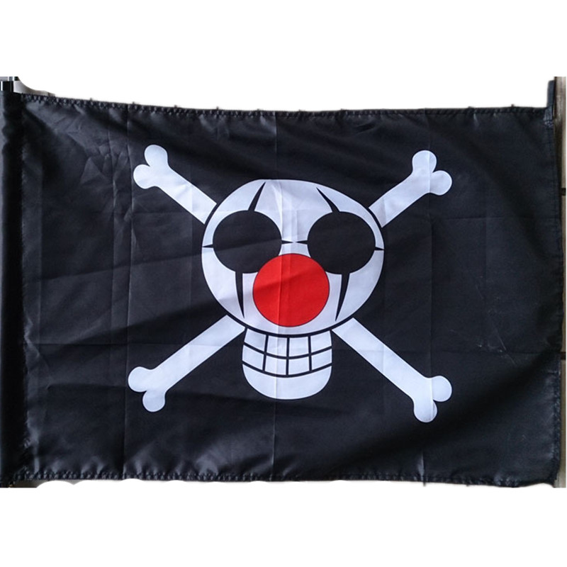 Anime One Piece Red Hair Shanks Flag banner Cosplay