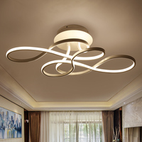 2017 Aluminum LED Ceiling Lights For Living Dining Room Home Decoration Lighting AC85 260V Lampara De