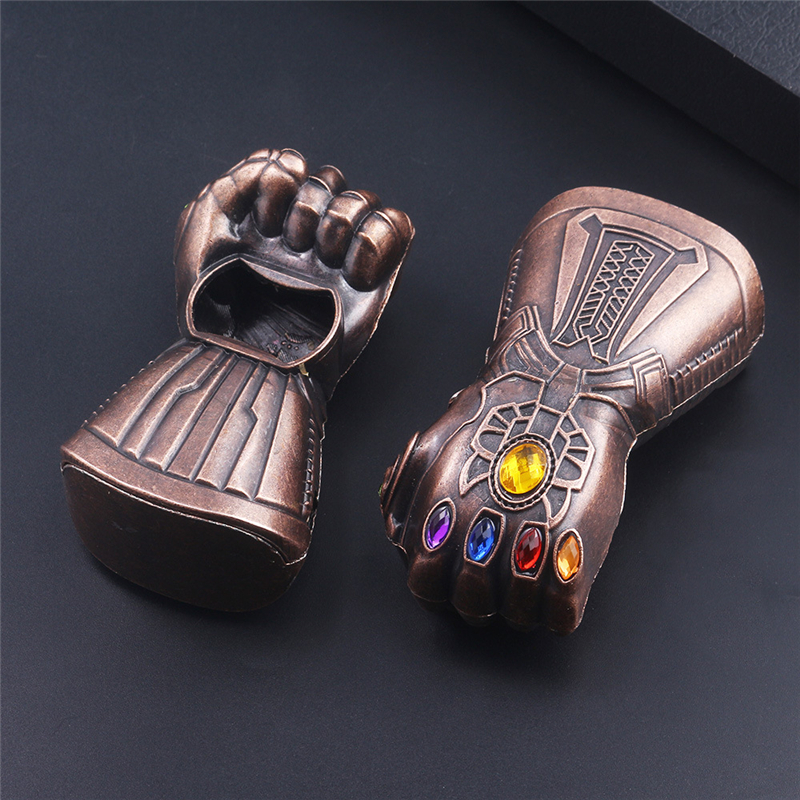 Marvel Keychain Avengers Loki Thor Hammer Pendant Captain America Key Chain Thanos Infinity Glove Gauntlet Weapons Keyring Movie in Key Chains from Jewelry Accessories