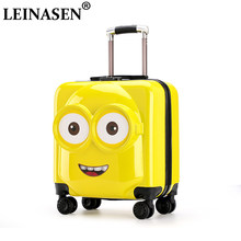 20 inch Kids Suitcase 3D Travel Luggage Children Travel Trolley Suitcase wheels Child suitcase Boy Girl Toys Rolling luggage(China)