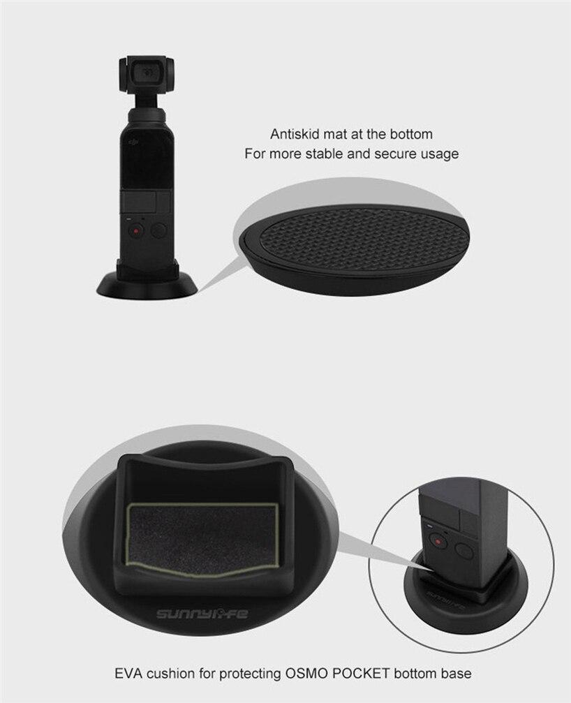 OMESHIN самостабилизирующийся кронштейн фитинги для пластмассы база самолет стабилизатор для DJI Osmo Карманный карданный Стабилизатор камеры JQ0321