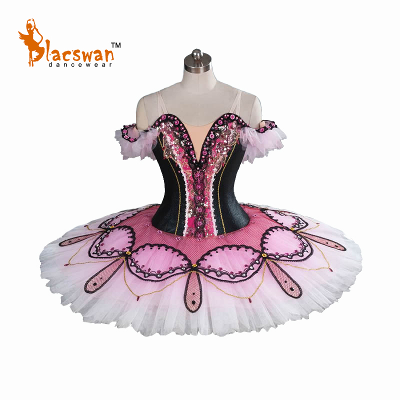 2017 New Black Professional Classical Ballet Tutu Ballet Costume BT813 Adult Pink Tutu Ballet for Competition and Performance