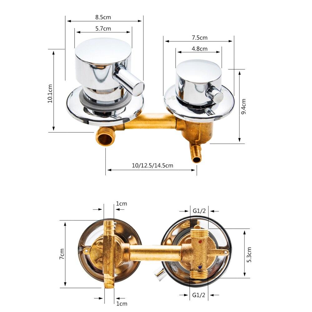 Image 4 - 2/3/4/5 水出口穴距離 10 センチメートル/12.5 センチメートル真鍮のシャワー蛇口浴室挿管ミキサーバルブシャワーキャビンキャビネットshower roomroom showerdiverter for shower -