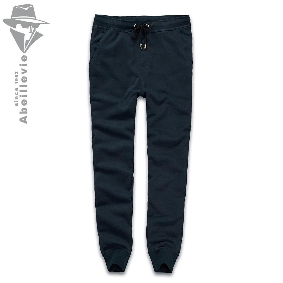 Abeillevie New Fashion Cotton Men's <font><b>Pants</b></font> Solid <font><b>French</b></font> <font><b>Terry</b></font> Casual <font><b>Pants</b></font> Men Big & Tall Plus Size Men <font><b>Active</b></font> SweatPants ABD8611
