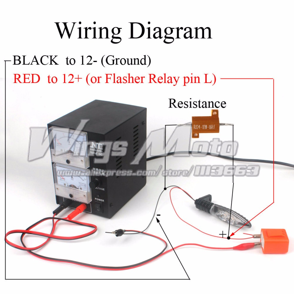 hight resolution of  indicator relay simple motorcycle wiring harness 12v load resistance 10w 16 ohm for motorcycle led turn signal rh aliexpress com