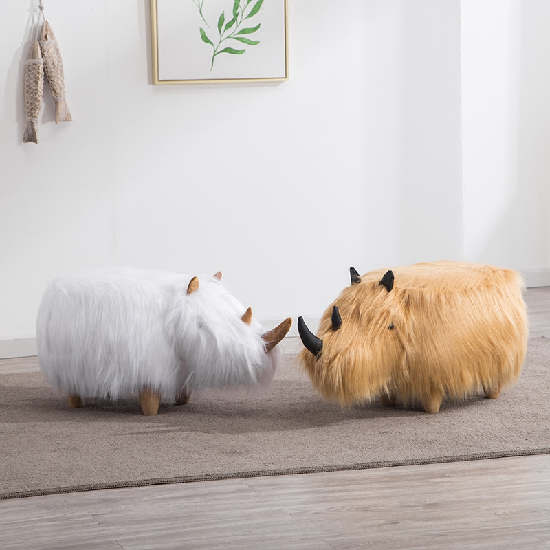 Creative solid wood footstool hairy shoes stool modern minimalist creative furniture stool Creative stool рюкзак молодежный женский grizzly цвет серый розовый 12 5 л rd 755 2 2