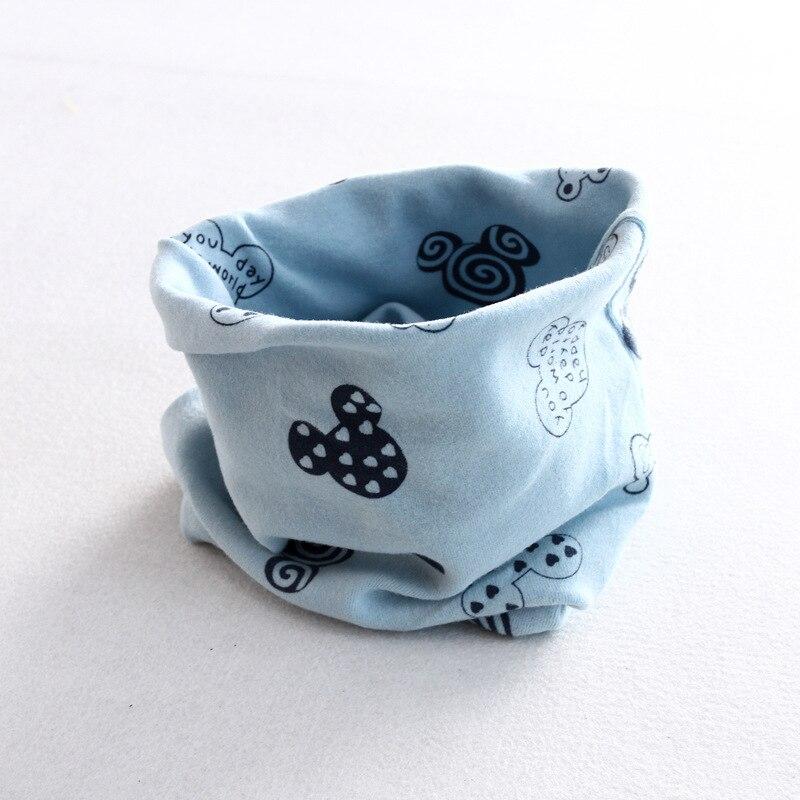 Осенне-зимний детский хлопковый шарф для девочек и мальчиков теплые шарфы Детский круглый кольцевой ошейник Детский шарф детский волшебный шейный платок - Цвет: M 2