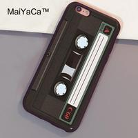 MaiYaCa Vintage cassette Retro Tape Cover Coque Phone Case For iPhone 6 Plus Full Coverage For iphone 6s Plus Back Cover