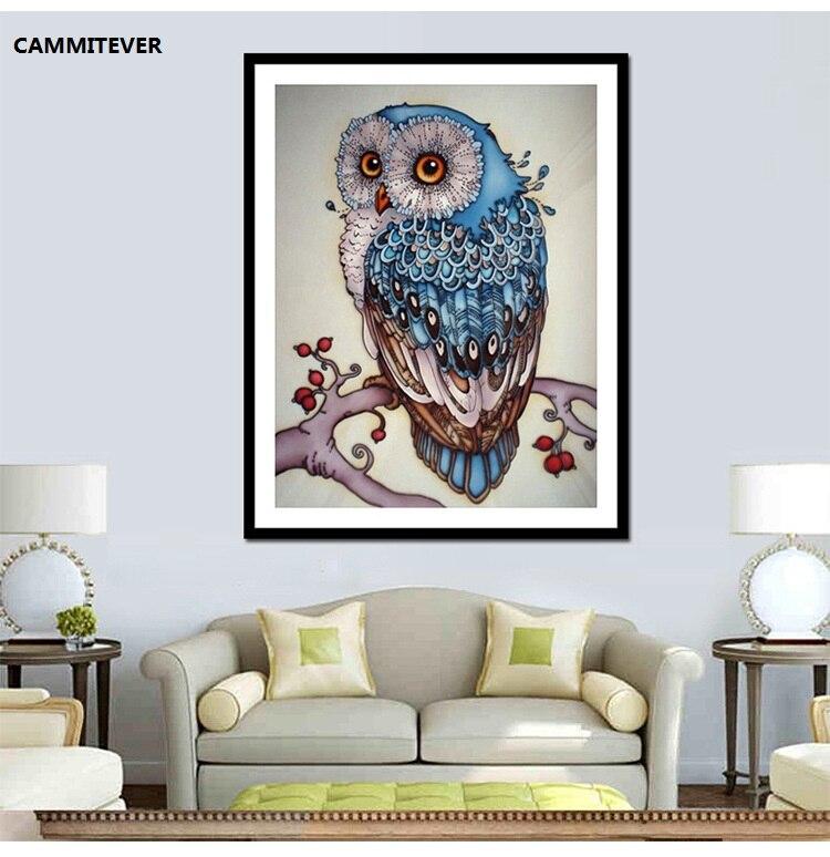 CAMMITEVER Diamond Painting Owl Drill Shiny DIY 5D Beaded Full Drill - ხელოვნება, რეწვა და კერვა - ფოტო 2