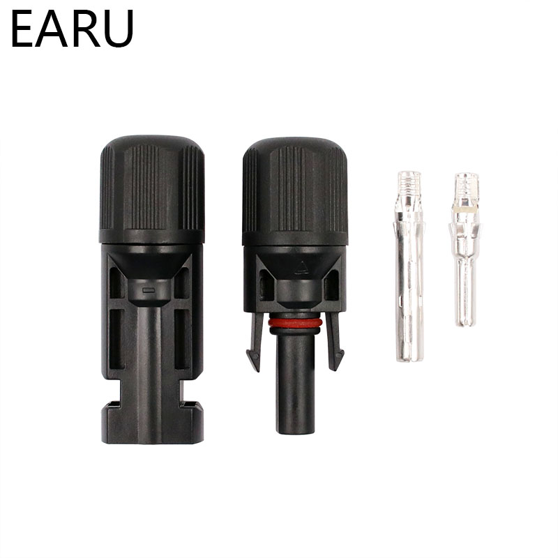 MC4 Solar Panel Mouted Connector M12 Thread Solar Panel Connector Pairs Male Female DC Solar Inverter Connector