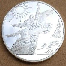 40 мм чоллима движение сувенирная медаль МОНЕТА Северная Корея Корейская Корея Посеребренная