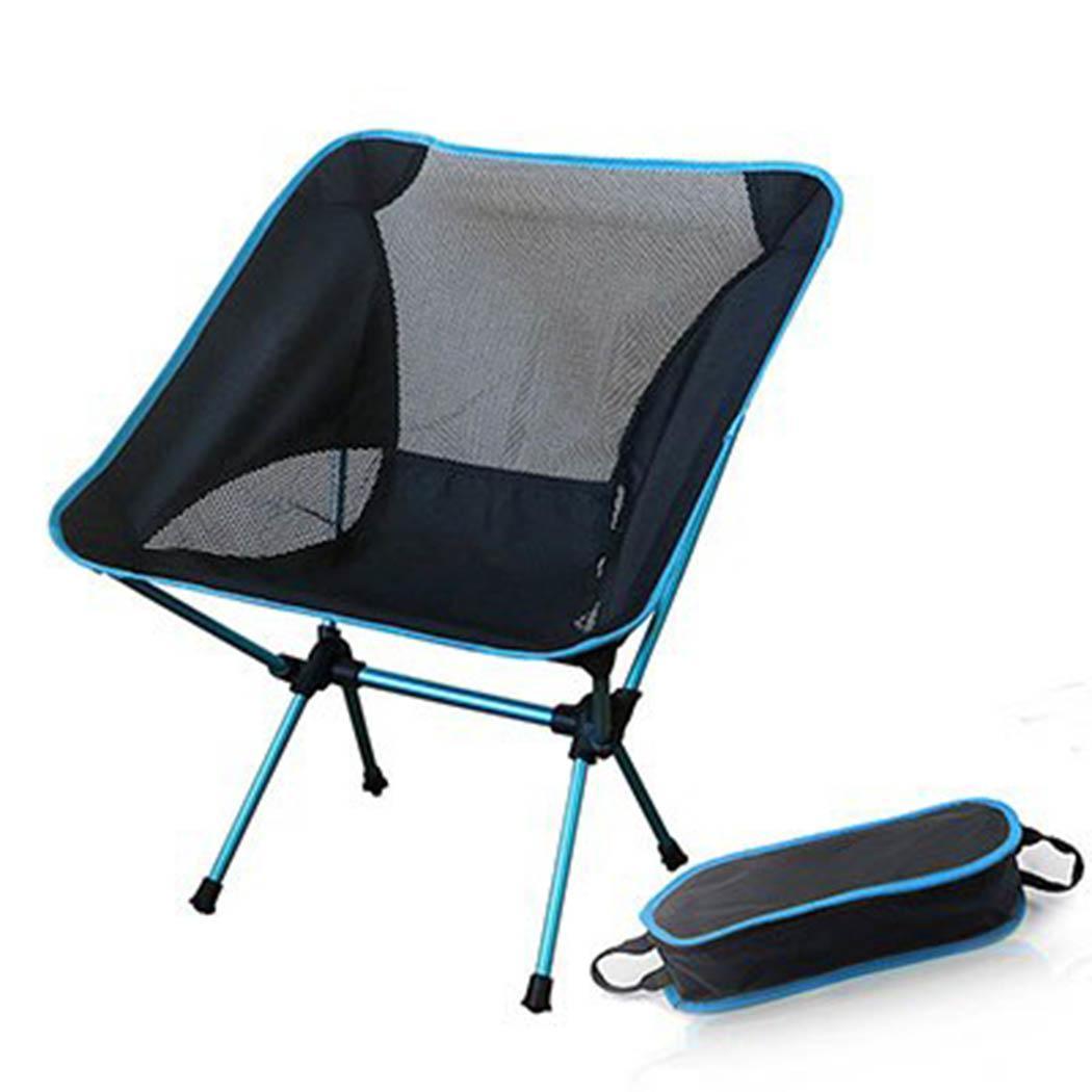 Портативный складной Сверхлегкий кресла для отдыха на природе пляжное кресло рыболовное Кресло алюминиевый сплав стул повседневное - Цвет: light blue
