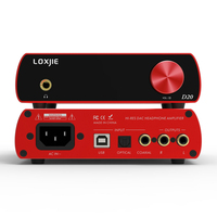 LOXJIE D20 HIFI Цифровой аудио ЦАП и усилитель для наушников использует чип ЦАП AK4497 Поддержка DSD512 PCM 32bit/768 кГц