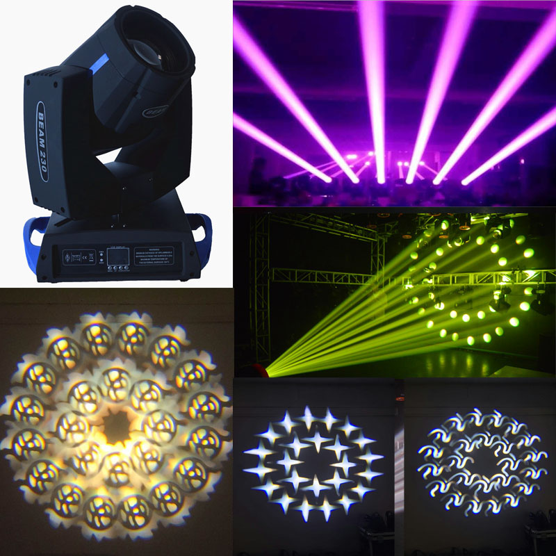 DMX 7R Sharpy 230W Moving Head Beam Light 16+8 Prism For Stage Effect DJ Lighting Party