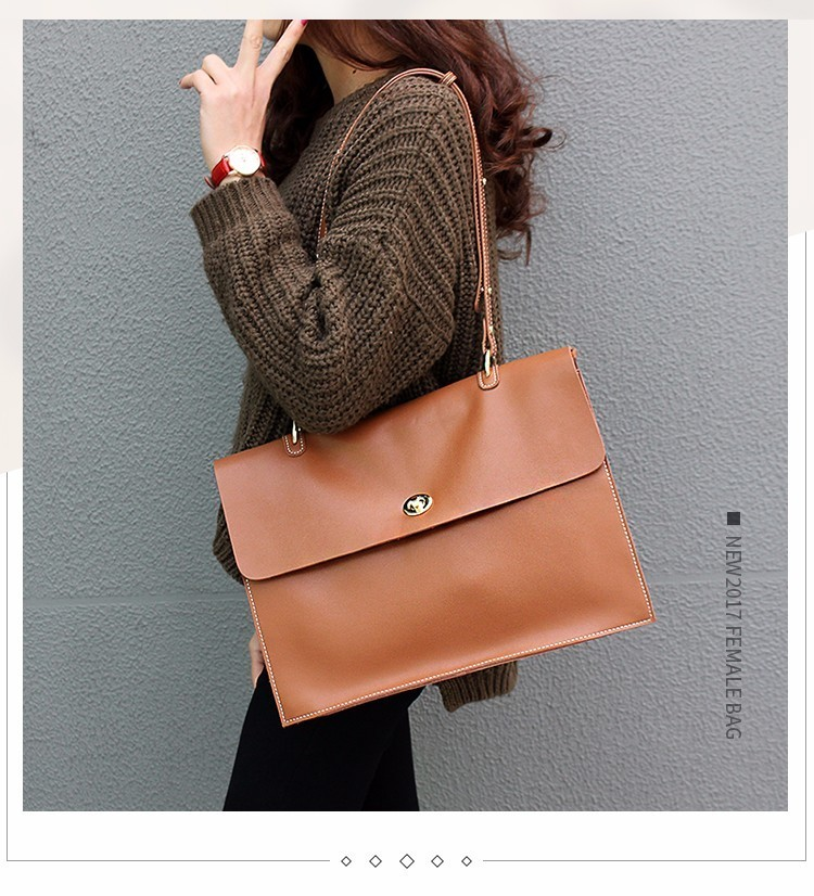 Voyage d'affaires paquet femmes véritable mallette en cuir sac à bandoulière grande capacité sac de travail