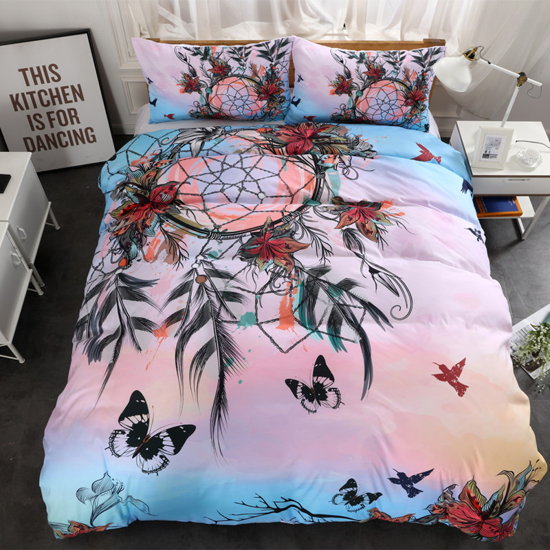 Fanaijia rainbow dream catcher Bedding Set King size Bohemian Print Duvet Cover set with pillowcase 3pcs AU Queen BedbedlineFanaijia rainbow dream catcher Bedding Set King size Bohemian Print Duvet Cover set with pillowcase 3pcs AU Queen Bedbedline