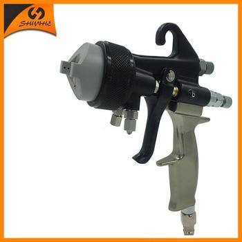 цена на SAT1205 paint gun hvlp air  foam spray mirror chrome paint nano chrome paint
