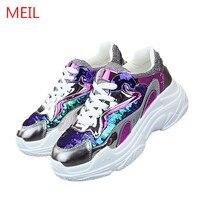 Fashion Women Sneakers 2019 Platform Casual Shoes Footwear Trainers Mujer Ladies Sneaker