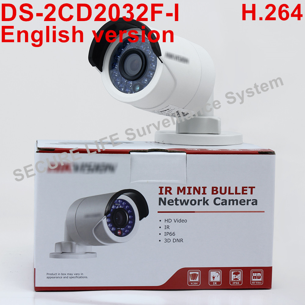 In Stock English version 2CD2032F-I 1080P POE SD Card Slot IP Network CCTV Camera 3MP