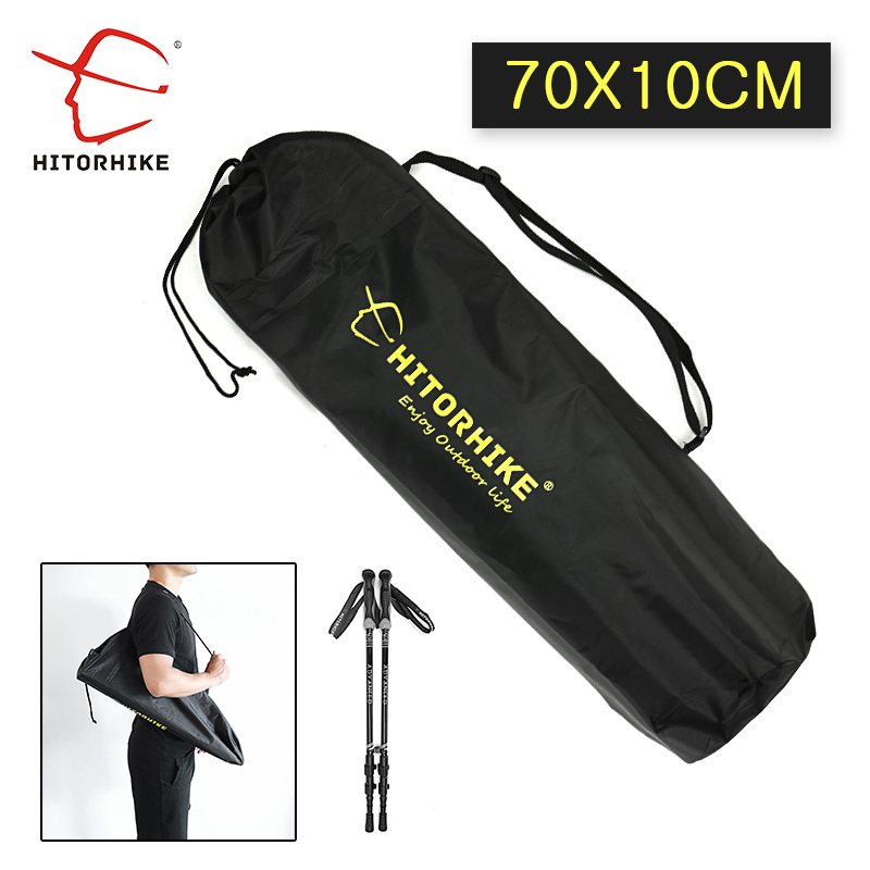 Hitorhike Outdoor Trekking Pole Backpack Crutch Storage Bag Portable Folding Human Design  Outdoor Trekking Pole Backpack