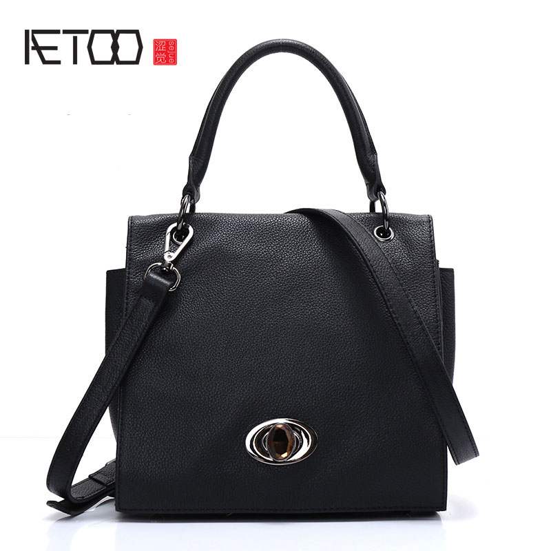 AETOO Leather handbags 2017 new shoulder Messenger bag ladies bag Europe and the United States fashion foreign trade first layer цена