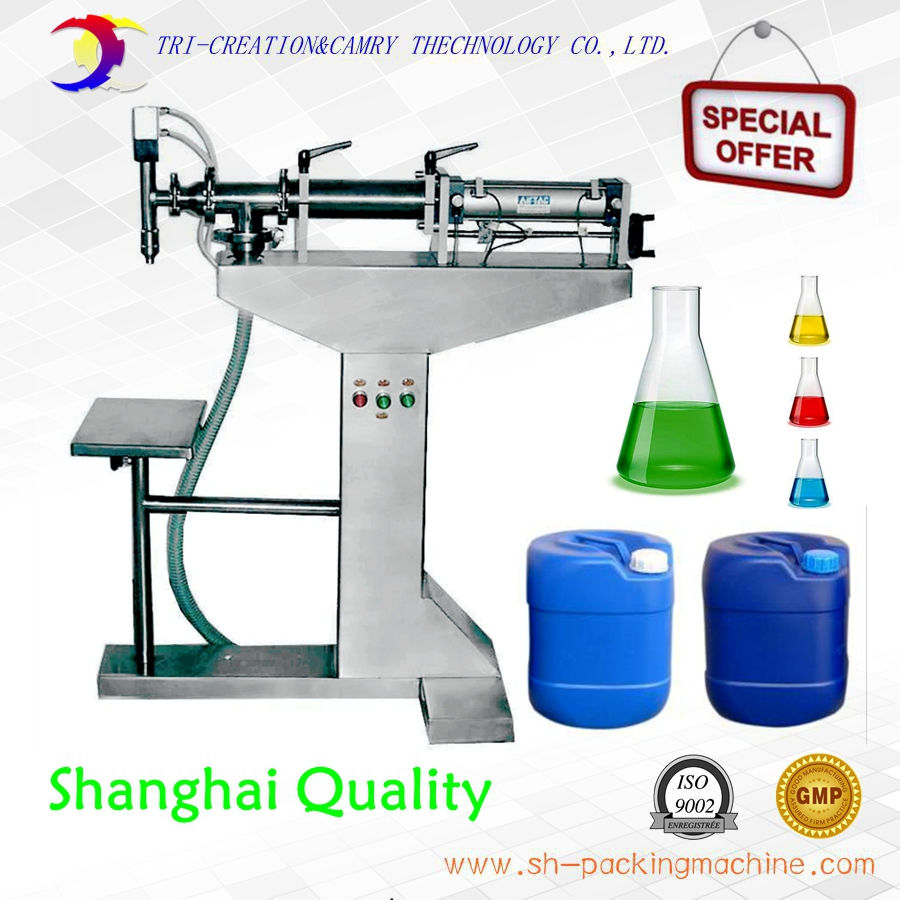semi automatic vertical liquid filling machine,1L cream paste filling machine,316L pneumatic piston liquid filler