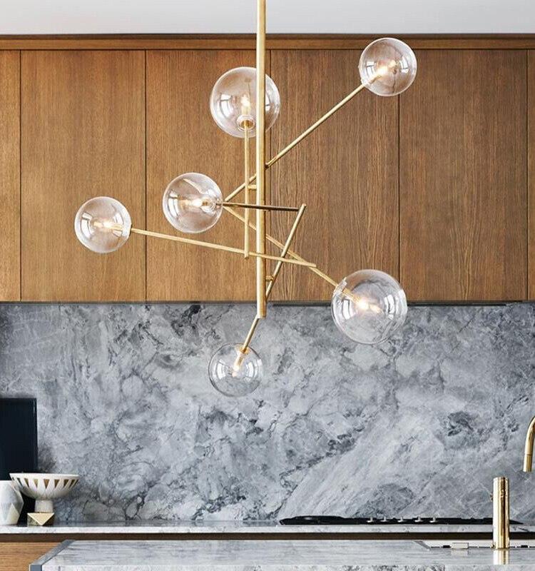 Постмодерн личность волшебные бобы стекло подвесной светильник American Living столовая спальня современный простой подвесной светильник