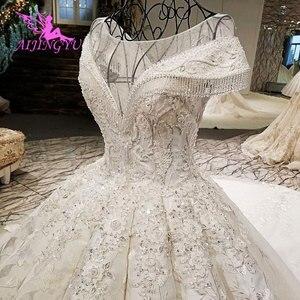 Image 4 - AIJINGYU Plus Size Wedding Dresses With Royal Ball White Boho Modests engagement Classy Gowns Wedding Dress Czech Republic