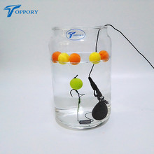 Toppory 2PCS/Lot 14mm Colored Pop Up Carp Fishing Boilies Flavoured Floating Artificial Grass Carp Bait Hair Rig Terminal Tackle