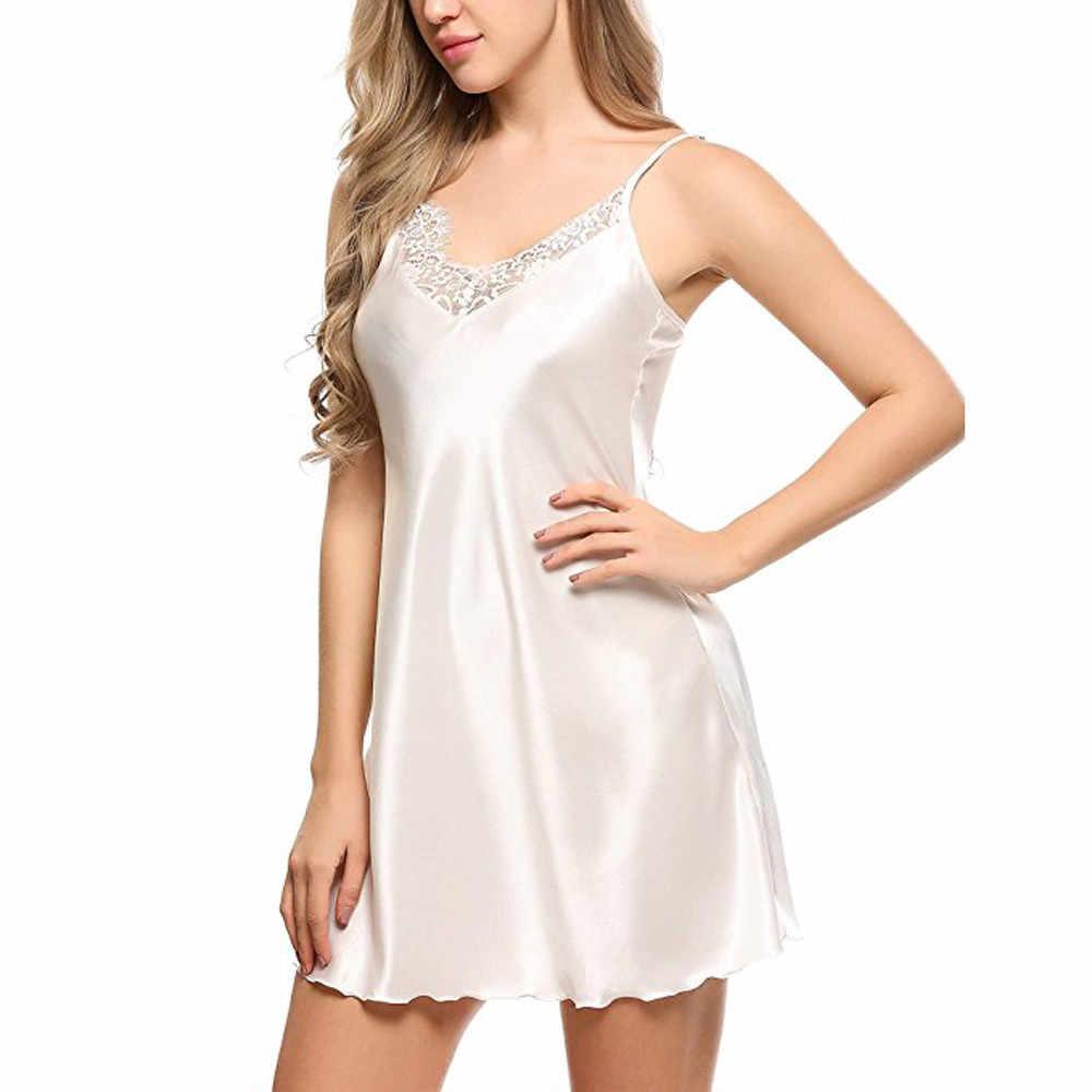 Srogem Sleep Wear For Women Sleep Sexy Clothes Nightwear Lace Lingerie  Underwear Transparan Baju Tidur Camisa c0118f4d0