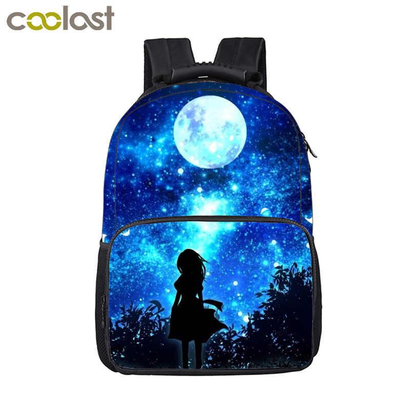 e723c5bd9a58 ... Cartoon Galaxy Unicorn Backpack For Teenage Girls Boys Kawaii Schoolbags  Children School Bags Kids Book Backpack ...