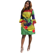 18ce77c6abe African women Fashion Dress Women s Clothing Newest White Succinct  Traditional V Neck Print African Dashiki Dress