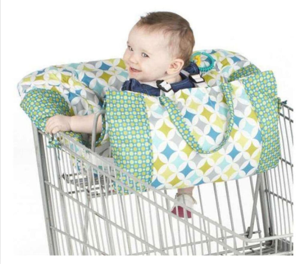 Зеленый корзина чехол для детского сидения, Ресторан высокий стул-мягкие вставки Держатель для мальчиков, девочек, младенцев, малышей - Цвет: green