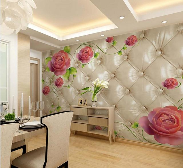 living room mural wallpaper aliexpress buy modern flower mural photo wallpapers 17856