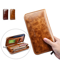 Oil Wax Passport Purse Wallet Case For Iphone 6 6s 7 7 Plus 5 5 Cover