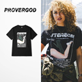 PROVERGOD Hip Hop Street Short Sleeve T Shirt Men Fashion Sexy Pattern O Neck Cotton Solid T-shirt Skateboard Dancer
