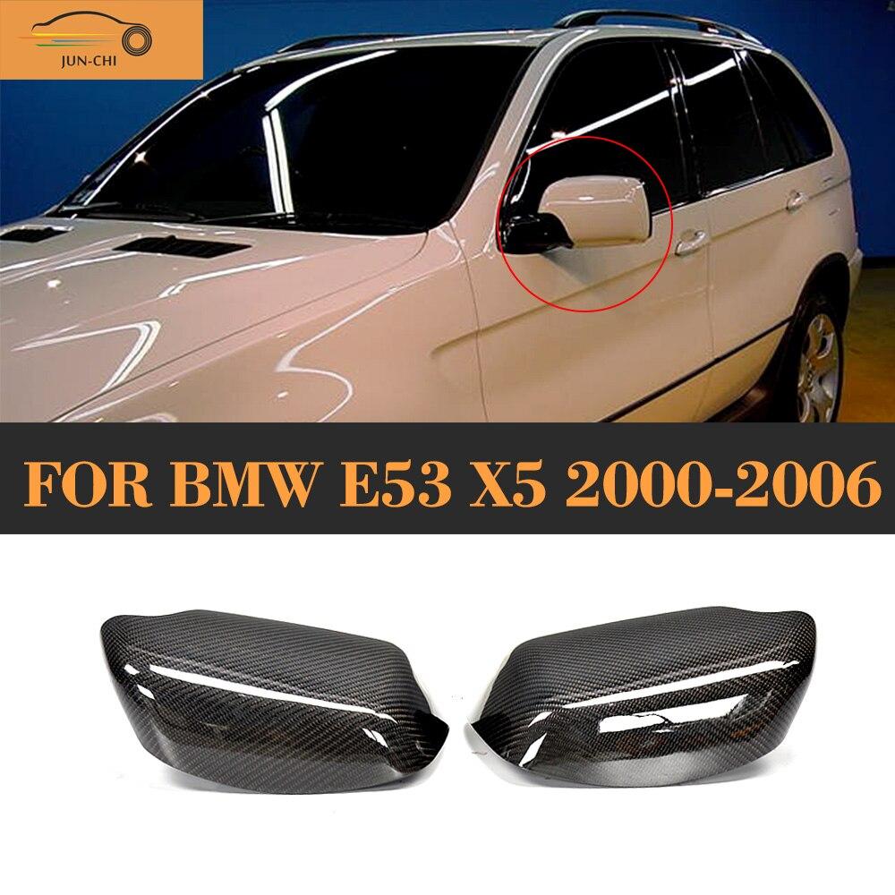 De Remplacement en Fiber de carbone Voiture Côté Miroir Couverture Bouchon pour BMW E53 X5 2000 2001 2002 2003 2004 2005 2006