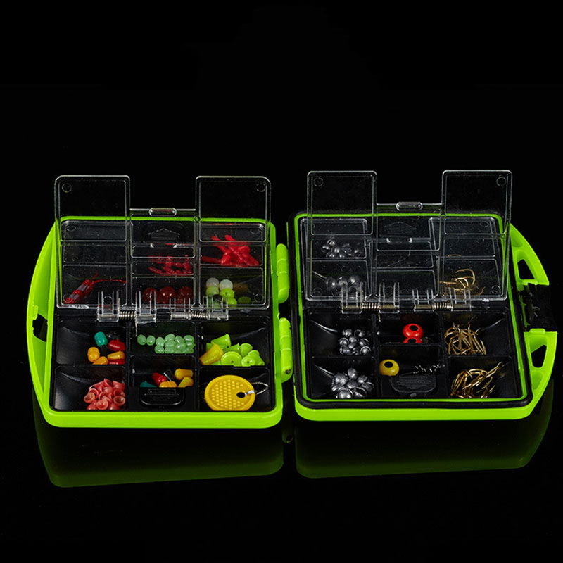 Hot 24 Compartments Fishing Tackle Box Hooks Lure Full Loaded Waterproof seanlure double layers grid design fishing lure tackle hooks storage case box portable lure fishing box tackle with compartment