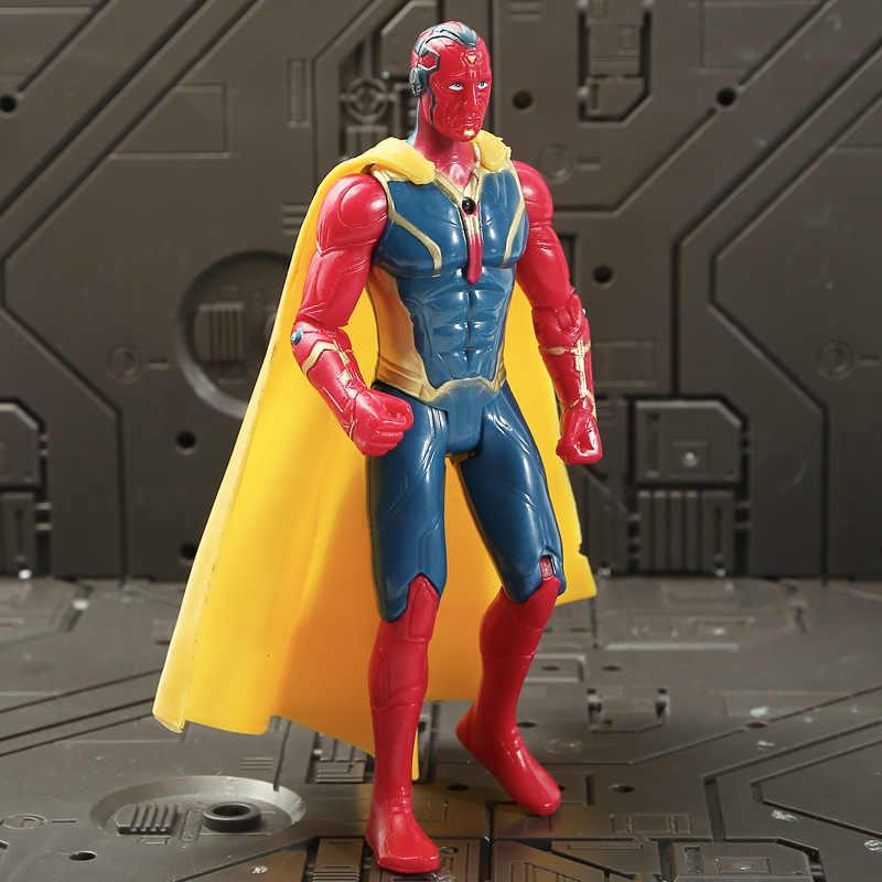 8 pçs/lote Endgame 4 Marvel The Avengers Figuras Conjunto de Visão + Máquina de Guerra + Thor + + Hawkeye Thanos + ironman + + Spiderman figura Hulk