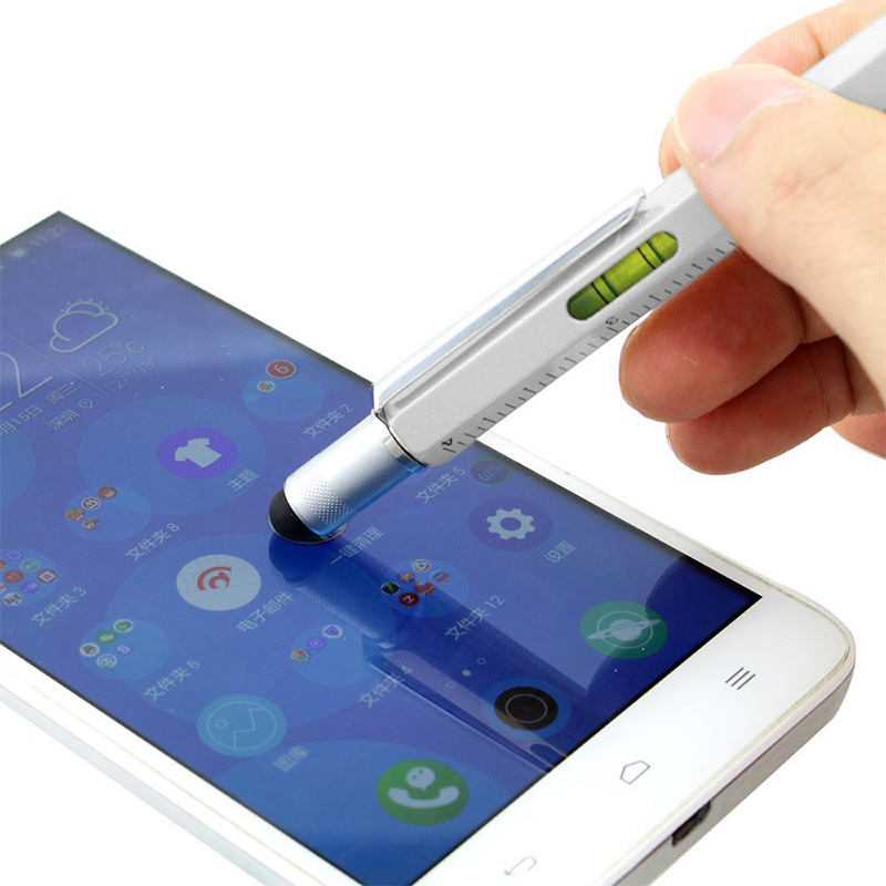All In One Tool Ballpoint Pen Screwdriver Ruler Spirit Level With A Top And Scale Multifunction Touchscreen Pen