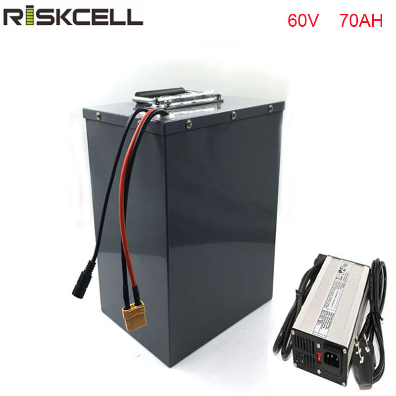 Big Capacity 60V 70Ah Giant Bike Battery 60V 3000w Lithium ion Battery for 4 Wheel eBike with Portable Handle Stainless Case electric bicycle case 36v lithium ion battery box 36v e bike battery case used for 36v 8a 10a 12a li ion battery pack