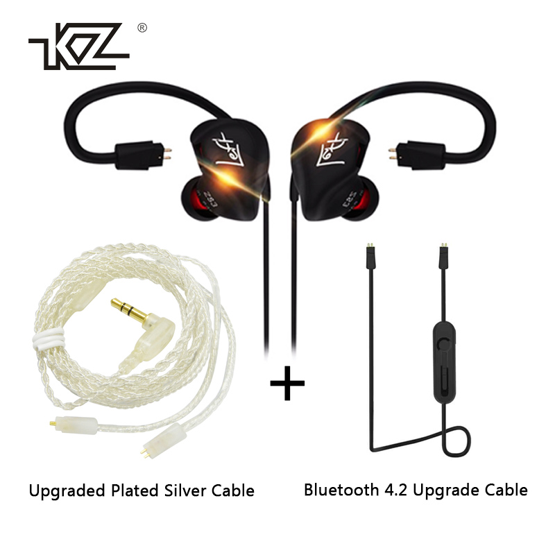 KZ ZS3 HIFI Earphone 3.5mm In-ear Dynamic Drive Bass Stereo DIY Sport Earbuds With Microphone For Smartphone Earphones super bass earphone hifi stereo sound 3 5mm earbuds in ear earphones with mic sport running headset for phone