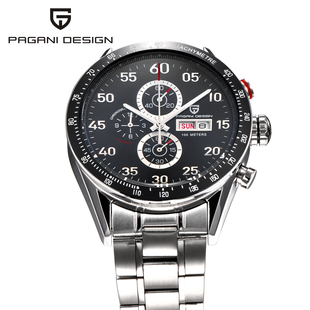 Men Watch Fashion Casual PAGANI DESIGN Military Quartz Watches Luxury Brand Relogio Masculino Out Sport Clock Reloj 2016 2016 relogio masculino watches men luxury brand pagani genuine leather quartz watch multifunctional fashion men s sports clock