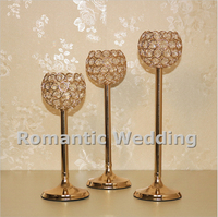 Free Shipment 10PCS Lots Crystal Candle Holder Centerpiece For Wedding Decorations Event Products Party Decorations
