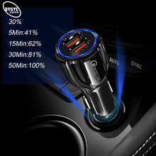 Car USB Charger Quick Charge 3.0 2A 3.1A Voiture Fast Charging Cell Mobile Phone Auto For iPhone 6 7 6s ipad