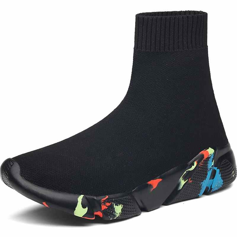 27c7e97c25 Hundunsnake Summer Sneakers Men Shoes Sport Women Running Socks Shoes Male  Sports Shoe High Top Chaussure Homme Black Walk A-037