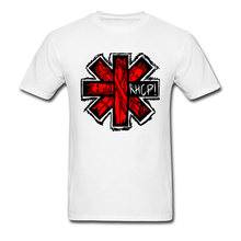 a74937f66 Red Hot Chili Peppers Logo camiseta hombres camiseta Hip Hop manga corta  Camiseta algodón blanco Tops