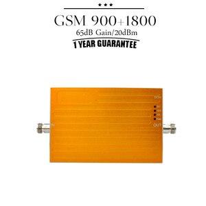 Image 2 - Oro AGC función 2g GSM 900 1800 repetidor GSM 900Mhz, DCS 1800MHz celular amplificador de señal de teléfono 70dB ganancia amplificador de señal móvil