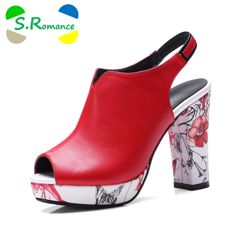 bc794bbf8df7 S.Romance Women Sandals Plus Size 32-42 Fashion Summer High Heel Lady Pumps